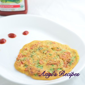 Tomato Omelet (Vegetarian)