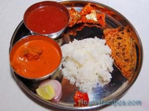 A nonvegetarian Konkani thali