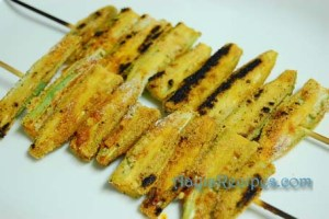Okra(bhindi) tava fries (Bhende phodi)