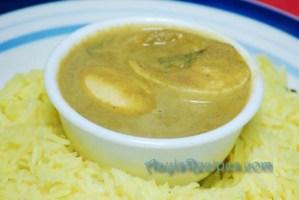 Egg curry with goda masala