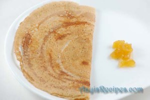 Wheat-lentil dosa