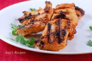 Grilled chicken kabab