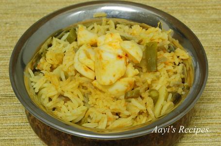 vegetable egg pulav