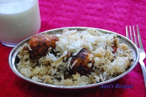 Vegetable Kofta Biryani with Spinach Gravy