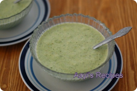 broccoli-leek soup