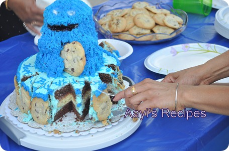 cookie monster cake10