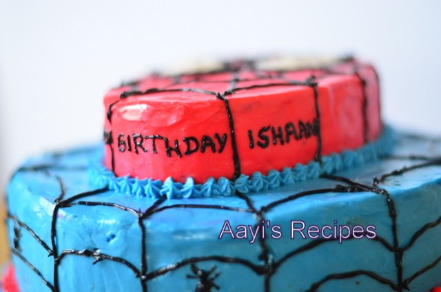 spiderman cake2