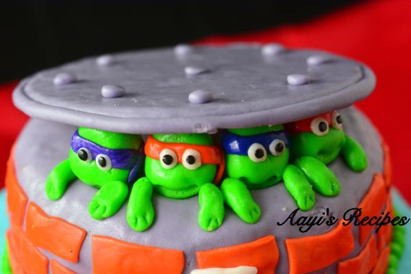 ninja turtles cake1