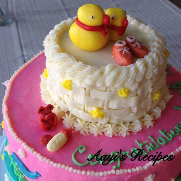 animal themed baby shower cake6