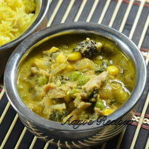 Vegetable-Chicken Curry and Puffs