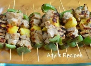 Grilled Chicken-Vegetable Kababs
