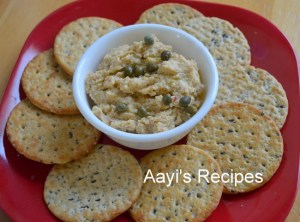 Hummus with Lemons Pickle and Capers