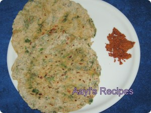 Moong dal – Methi Paratha