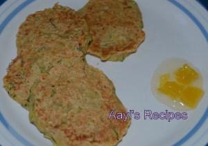 Quick Zucchini Dosas / Pancakes