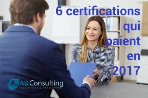 Les 6 certifications qui paient en 2017