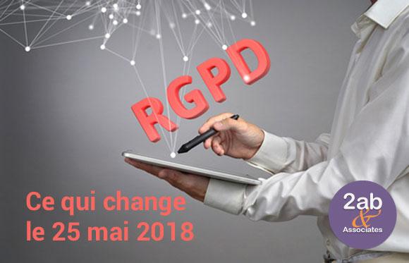 RGPD/GDPR - Les changement au 25 Mai 2018