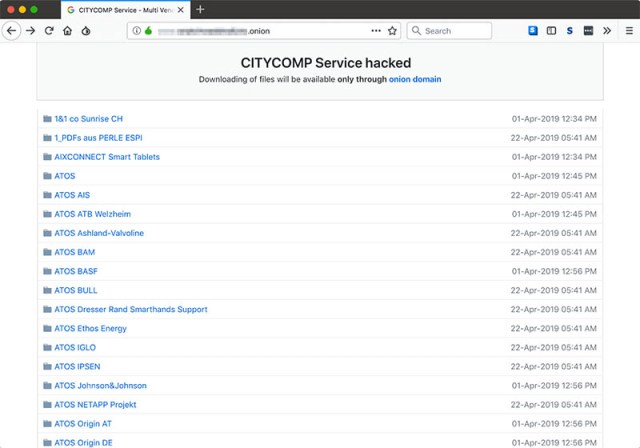 Citycomp : la faille de la semaine - 1er mai 2019