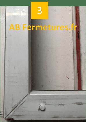 Démonstration réparation menuiserie pvc - Etape 3 - AB Fermetures Le Havre