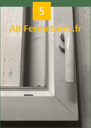 Démonstration réparation menuiserie pvc - Etape 5 - AB Fermetures Le Havre