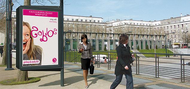 vitrine d'affichage publicitaire
