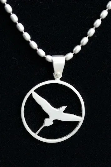ABA Tropicbird Pendant with Sterling Chain
