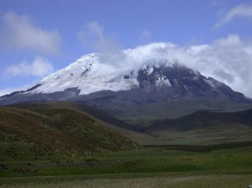 The snow-capped peak of Antisana is breathtaking on a clear day Nick Athanas