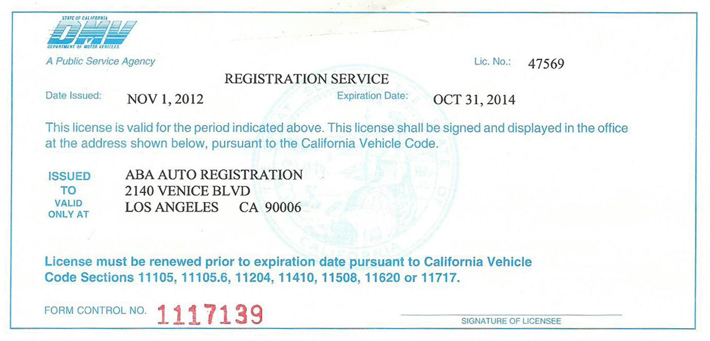 How Renew Car Registration Online California