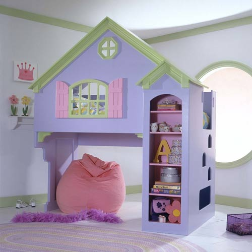 Dollhouse Kids Bunk Bed Dollhouse Loft Bed For Baby Girl Ababy