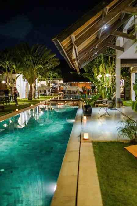 Abaca Villas Event at Night