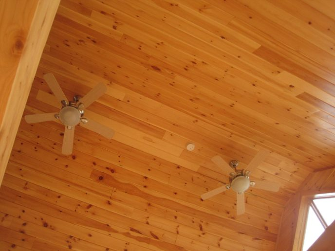 Log Cabin Ceiling Fan Install