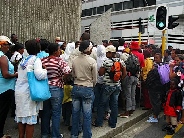 January 7, 2009. Residents of Symphony Way, Delft, march to theHousing Department Office, Wale Street, Cape Town