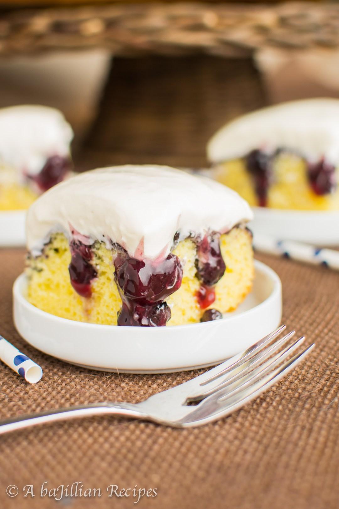 Lemon Blueberry Poke Cake A Bajillian Recipes