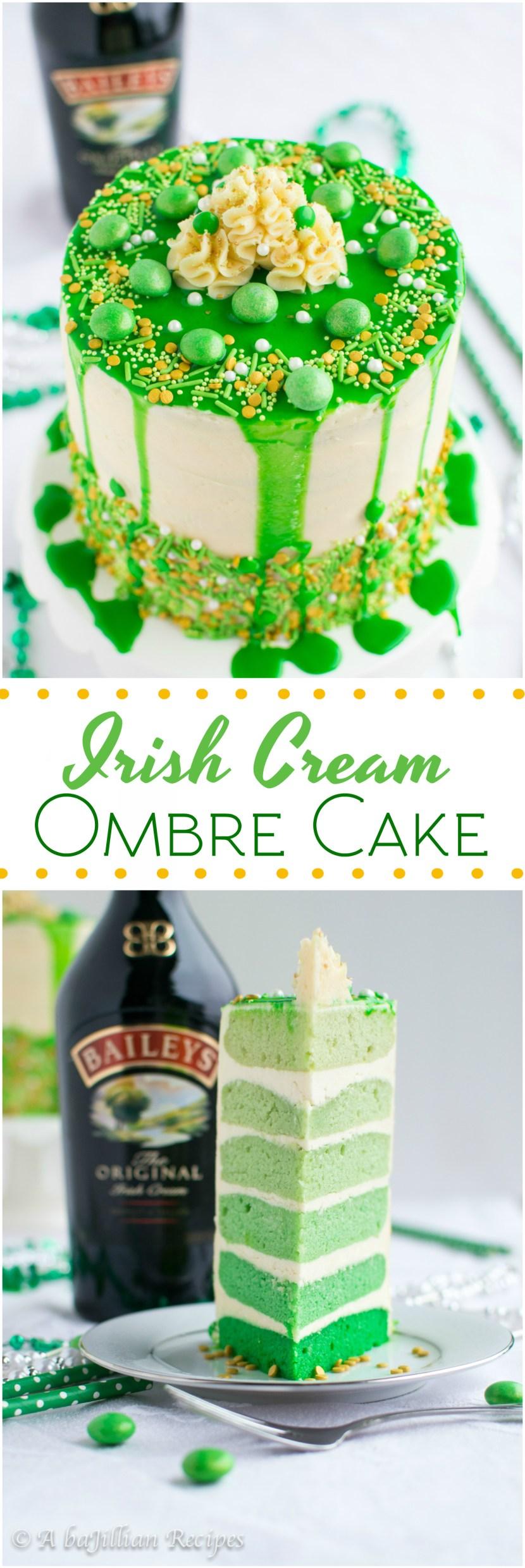 Swell Irish Cream Ombre Cake A Bajillian Recipes Personalised Birthday Cards Veneteletsinfo