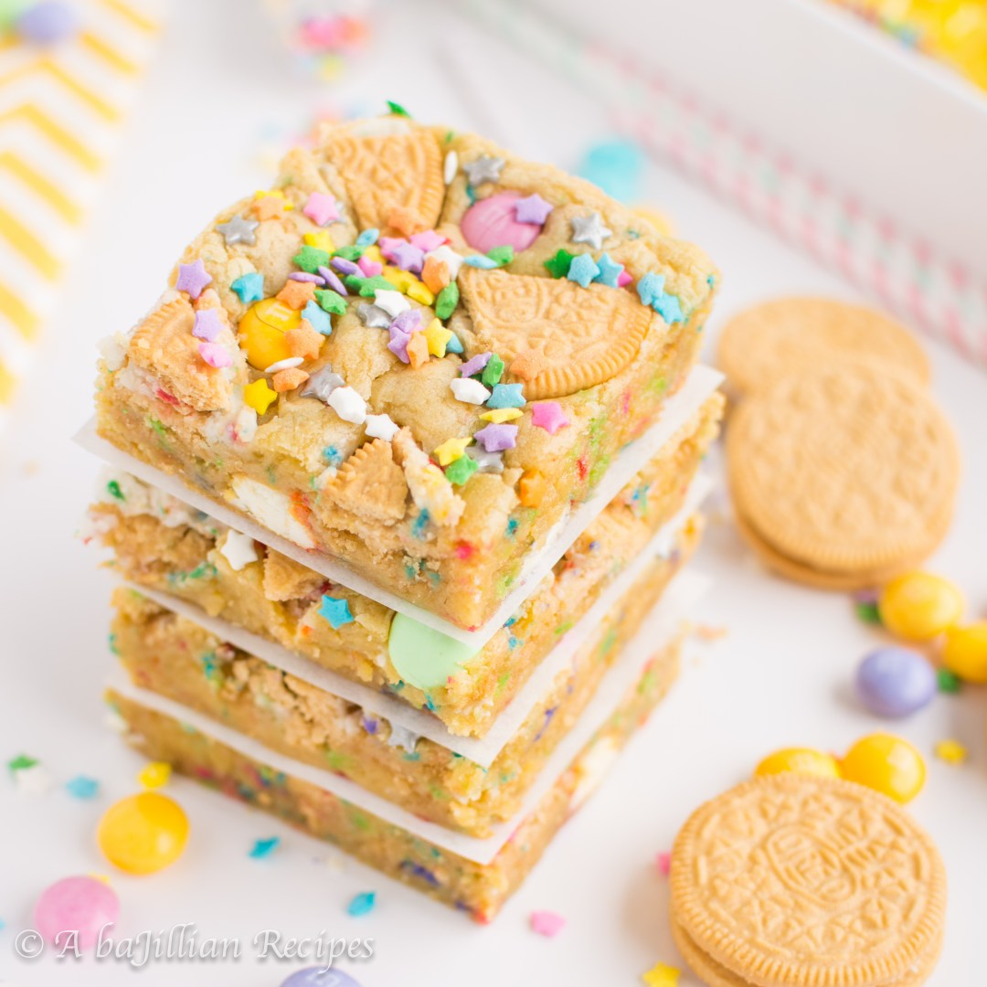Magnificent Loaded Cake Batter Cookie Bars A Bajillian Recipes Personalised Birthday Cards Veneteletsinfo