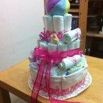 Simple DIY Diaper Cake