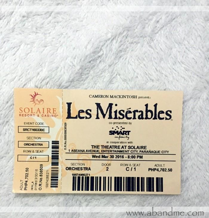 Les Mis Ticket Solaire