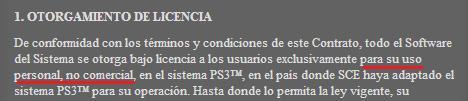 Contrato de licencia de Sofware de PlayStation 3