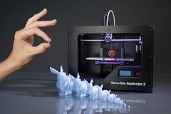 Conejos blancos impresos en 3D
