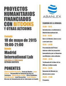 Poster conferencia ONG Bitcoin