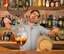 Apple Brandy and Barrel Aged Negroni
