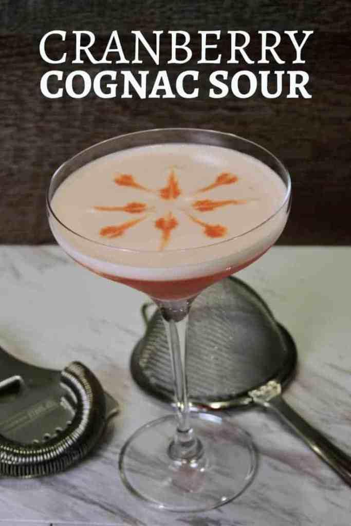 Cranberry Cognac Sour