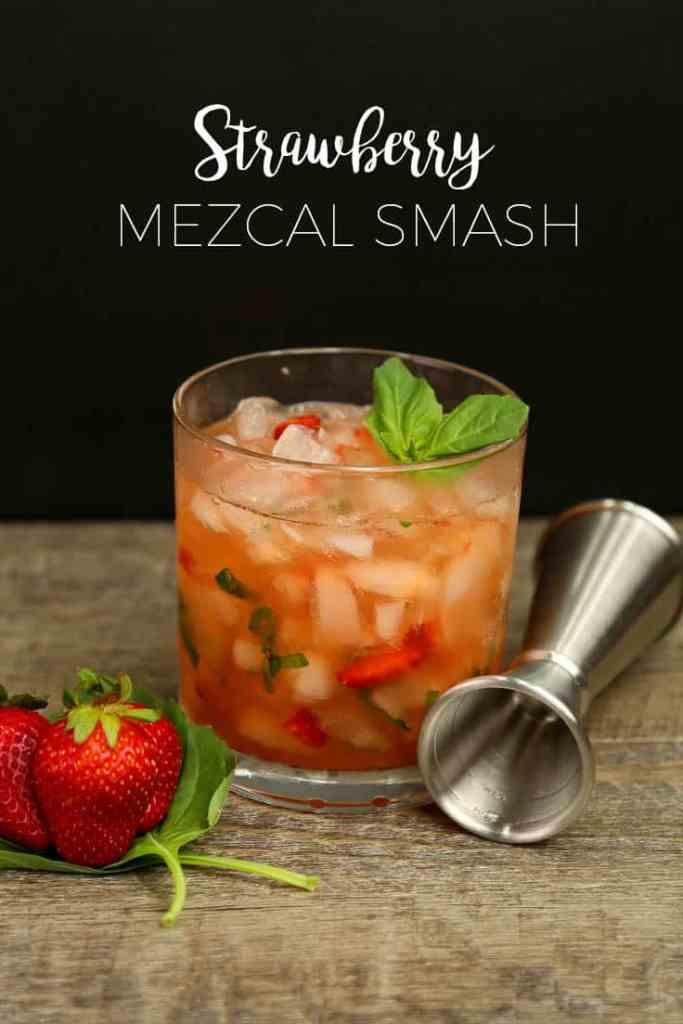 Strawberry Mezcal Smash