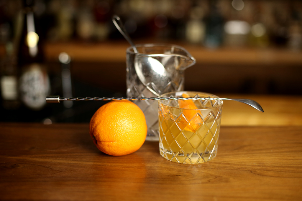 Bar Spoon Over a Cocktail