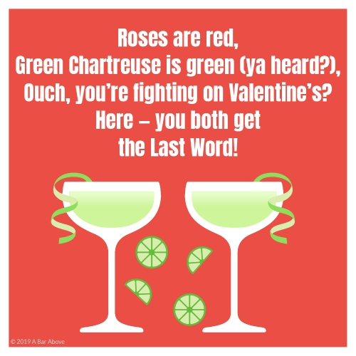 Bartender Valentine - Chartreuse