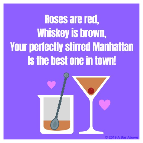 Bartender Valentine - Stirred Manhattan