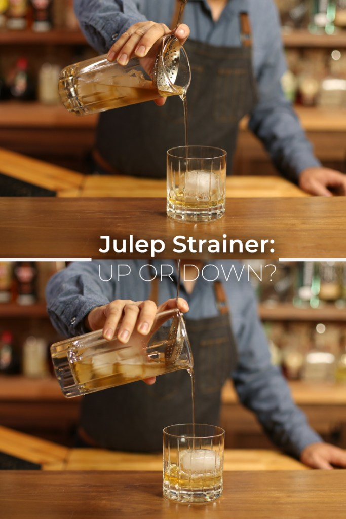 How do you Hold a Julep Strainer?