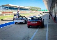 Abarth 124 Spiders in Pitlane