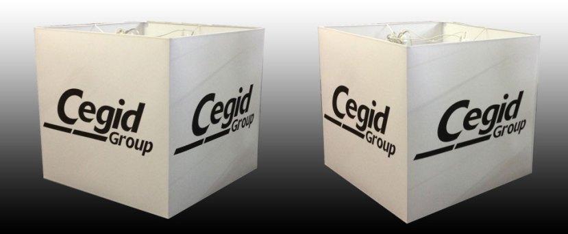 Abat-jour-carré imprimé CEGID