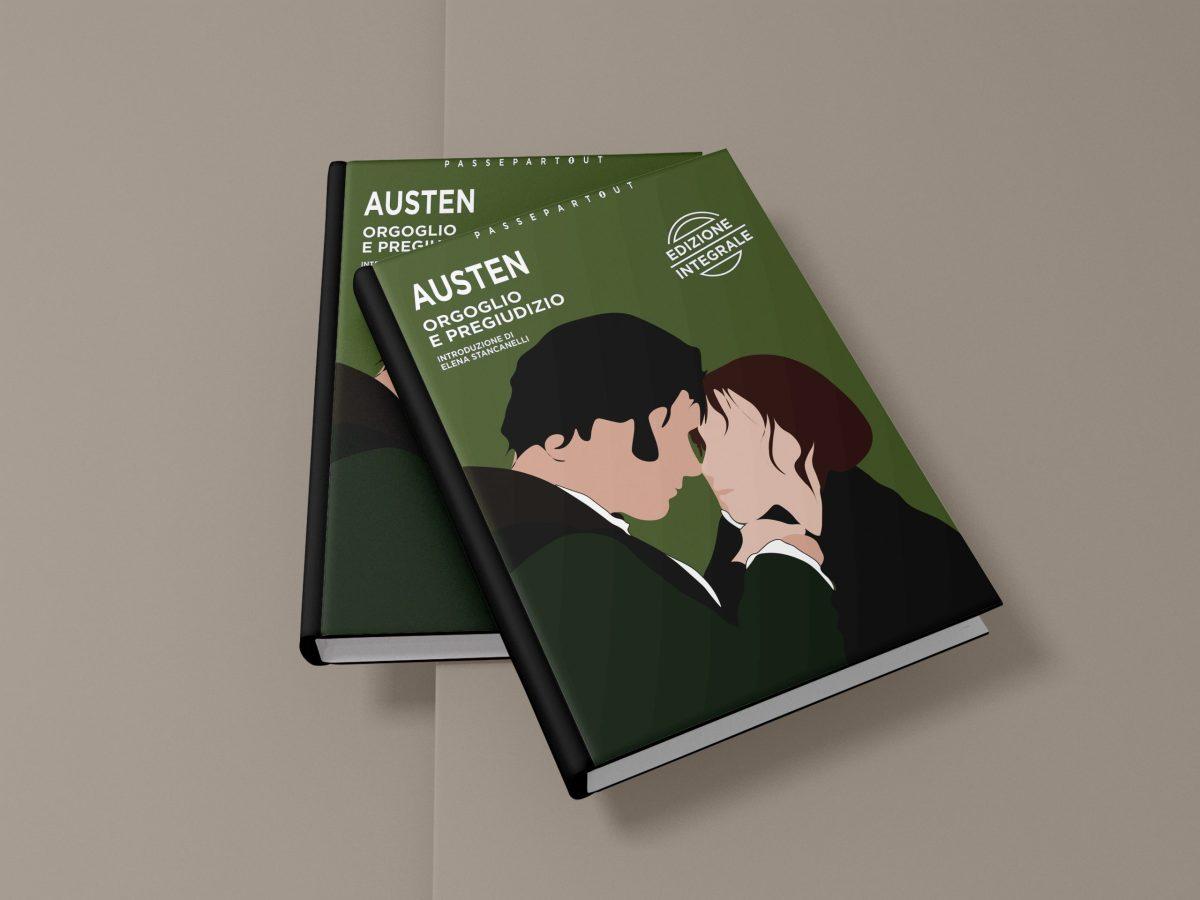 Illustrazione per la copertina del libro Orgoglio e Pregiudizio