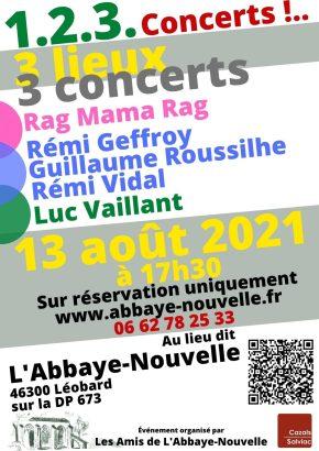 Concerts du 13 août 2021 à 17h30